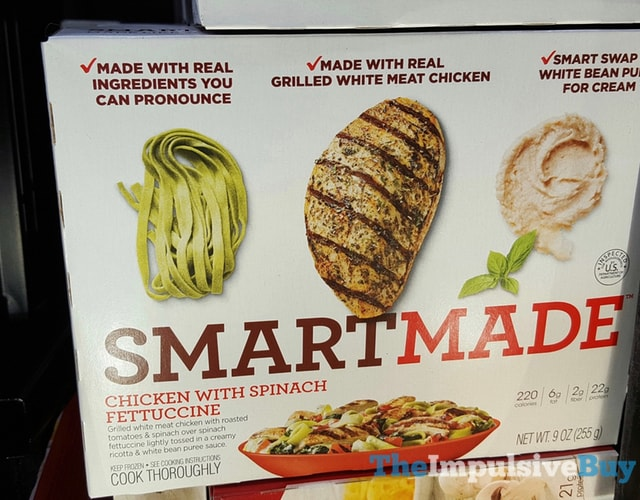 Smart Made Chicken with Spinach Fettuccine