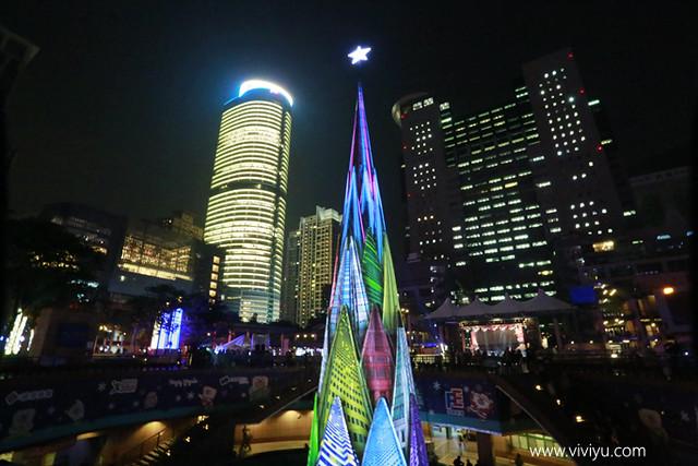 2015新北耶誕城,3D立體光雕,市民廣場,新北市,旅遊,板橋,板橋火車站,歡樂耶誕城,耶誕樹 @VIVIYU小世界