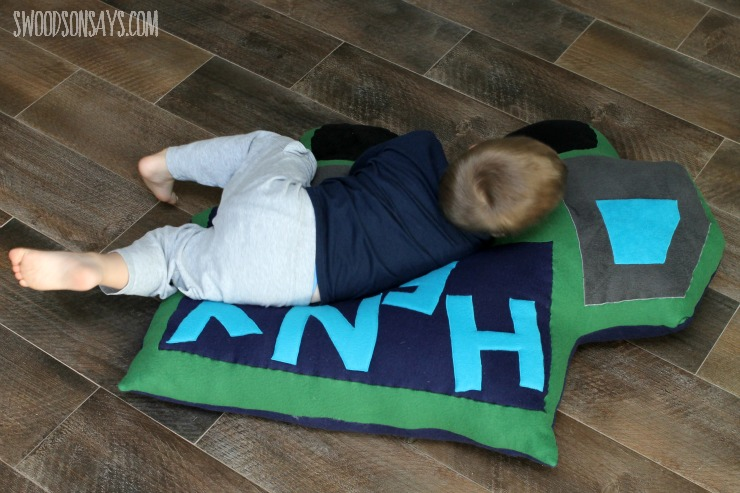 Mega floor pillow sewing pattern for snuggling