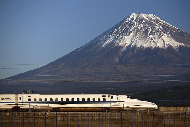 Series N700 with Mt.Fuji