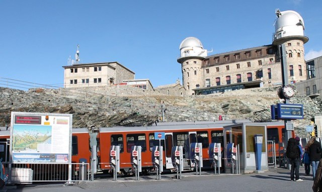 Gornergrat rail station and hotel