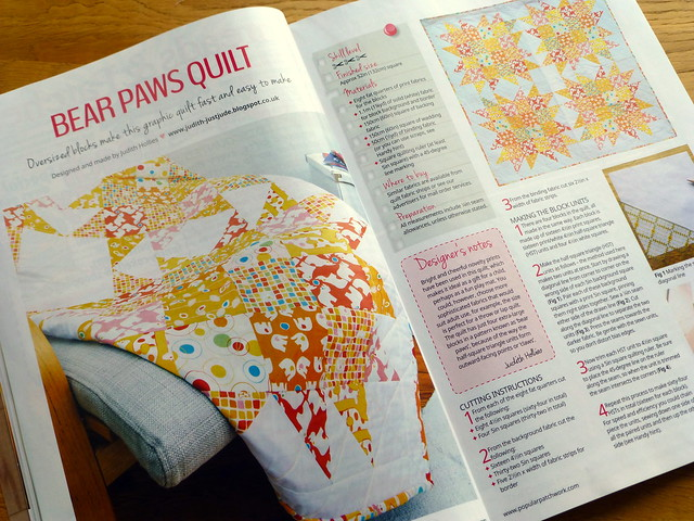 My BearPaw quilt in Oct issue Popular Patchwork