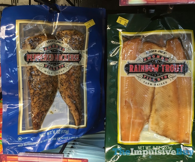 Trader Joe's Smoked Peppered Mackerel and Rainbow Trout Fillets