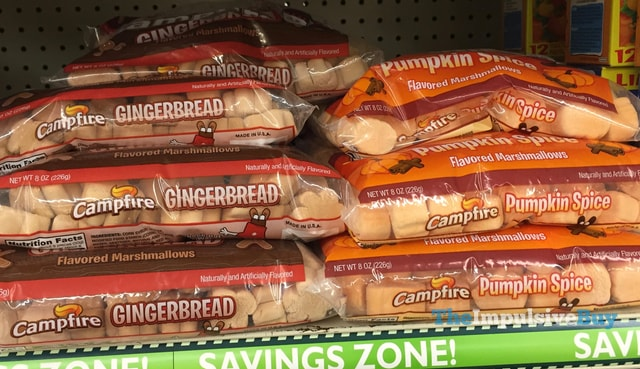 Campfire Gingerbread and Pumpkin Spice Marshmallows
