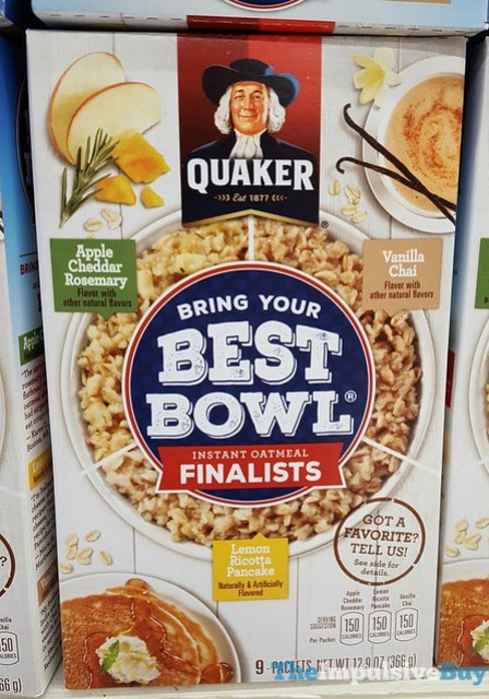Quaker Bring Your Best Bowl Instant Oatmeal Finalists