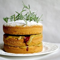 rosemary forest cake (rosemary, black cherry and coffee cake)