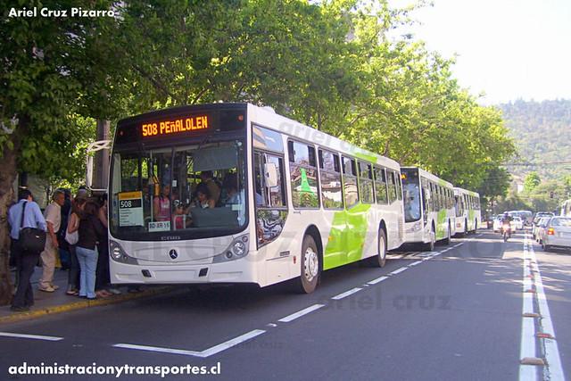 Transantiago - Buses Metropolitana / Metbus - Caio Mondego H / Mercedes Benz (BDXR16)