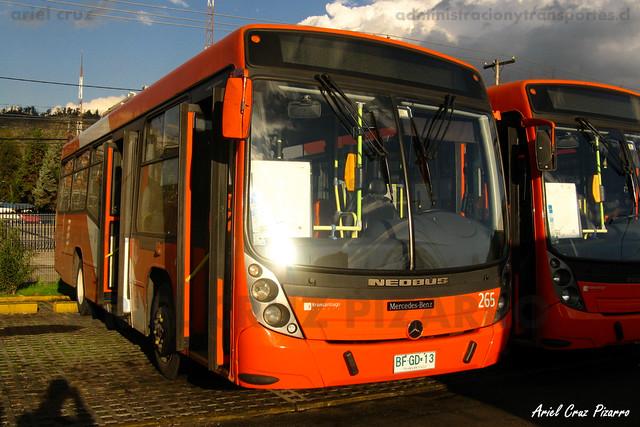 Transantiago - Redbus Urbano - Neobus Mega LE / Mercedes Benz (BFGD13) (265)