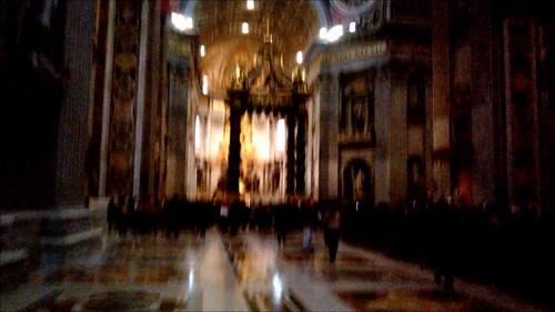 Dentro del Vaticano y la cúpula por dentro
