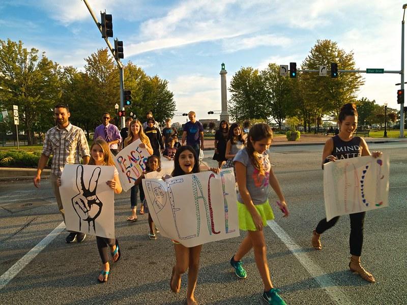 Davenport,IA Peace Day Vigil - CNV 2016 (1)