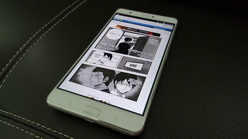 อ่านการ์ตูนออนไลน์บน Zenfone 3 Ultra เต็มตาดีทีเดียว