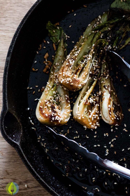 Spicy Bok Choy | www.infinebalance.com #recipe #vegan