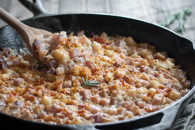 Cheesy rosemary roadside potatoes