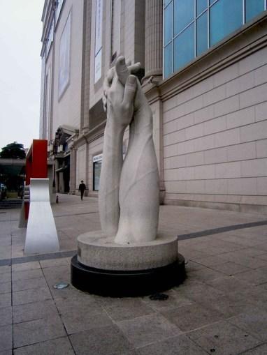 Hand Statue in Bucheon