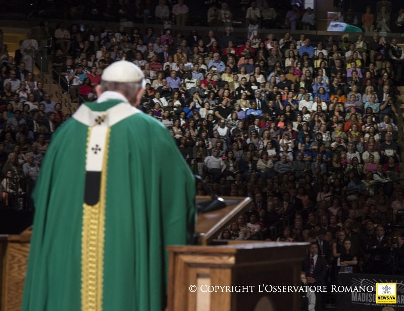 25-09-2015 Pope Francis in the USA-Holy Mass in Madison Square Garden