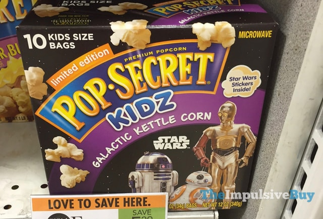Limited Edition Pop Secret Kidz Star Wars Galactic Kettle Corn