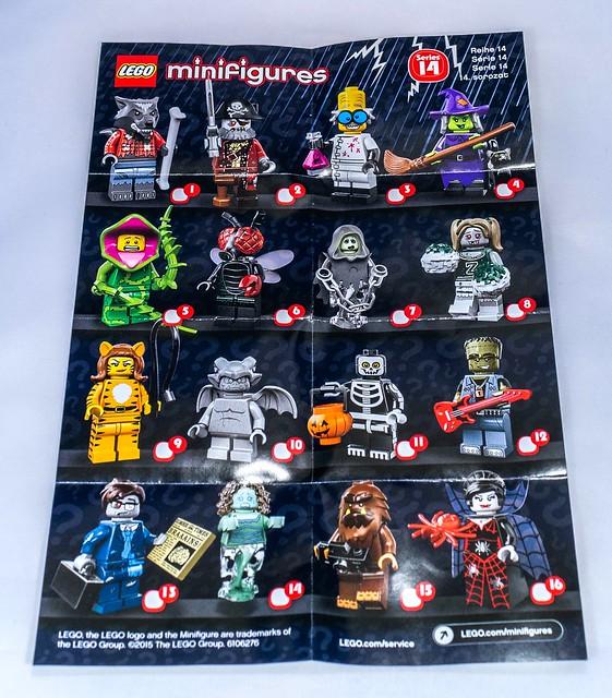 14 LEGO-Minifigures Série X 1 appareil photo pour les gros pied de série 14 pièces
