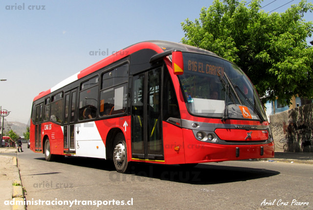 Transantiago - Redbus Urbano - Neobus Mega BRT / Volvo (CJRK35) (1203)