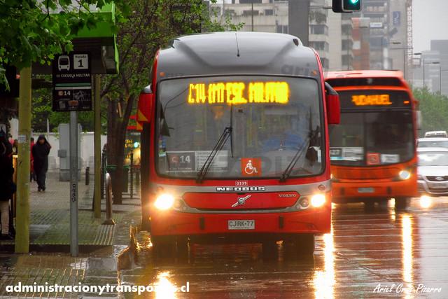 Transantiago - Redbus Urbano - Neobus Mega BRT / Volvo (CJRK77) (339)