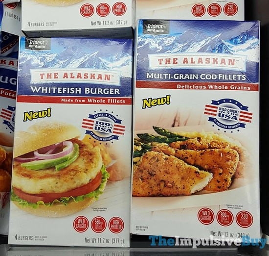 Trident The Alaskan Whitefish Burger and Multi-grain Cod Fillets