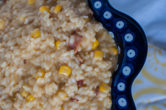 Sweet Corn, Bacon and Cheddar Risotto 1