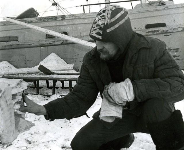 Зима мачта новая только притащили кэп меряет