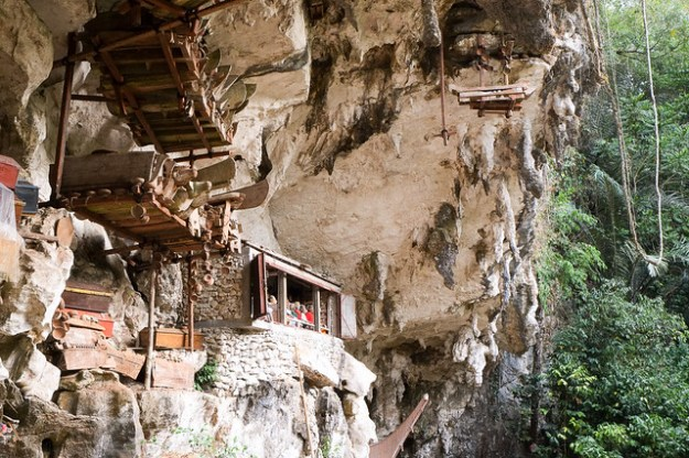 Cliff graves. Tana Toraja