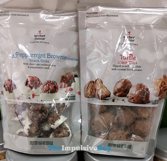 Archer Farms Limited Edition Peppermint Brownie and Turtle Snack Bites