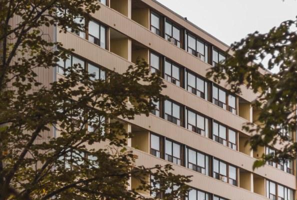 Prince Edward Square Apartments through the brush