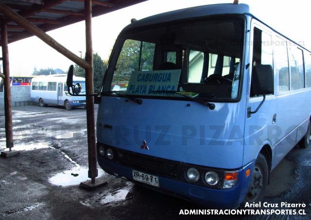Buses Caburgua - Pucón - Mitsubishi Fuso Rosa (XR6971)