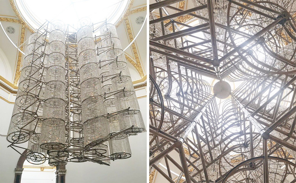 Ai wei wei royal academy bicycle chandelier