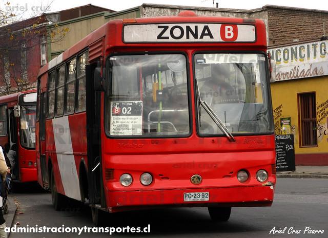 Transantiago - Buses Gran Santiago - Metalpar Petrohué 2000 / Mercedes Benz (PC2392)