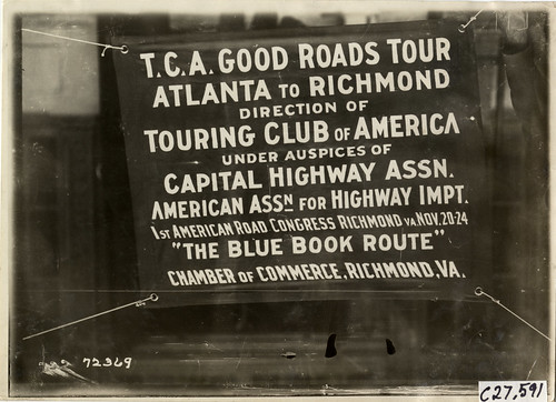 1911 TCA Good Roads Tour Banner