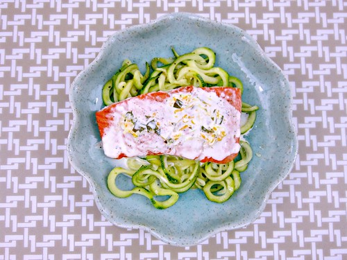 Salmon with Basil Citrus Sauce