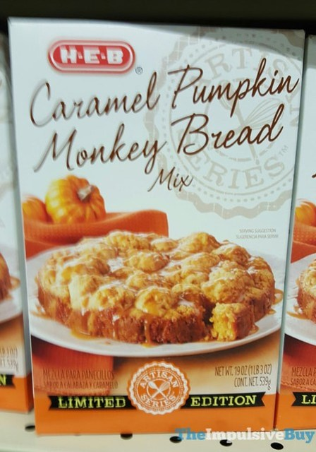 H-E-B Limited Edition Caramel Pumpkin Monkey Bread Mix