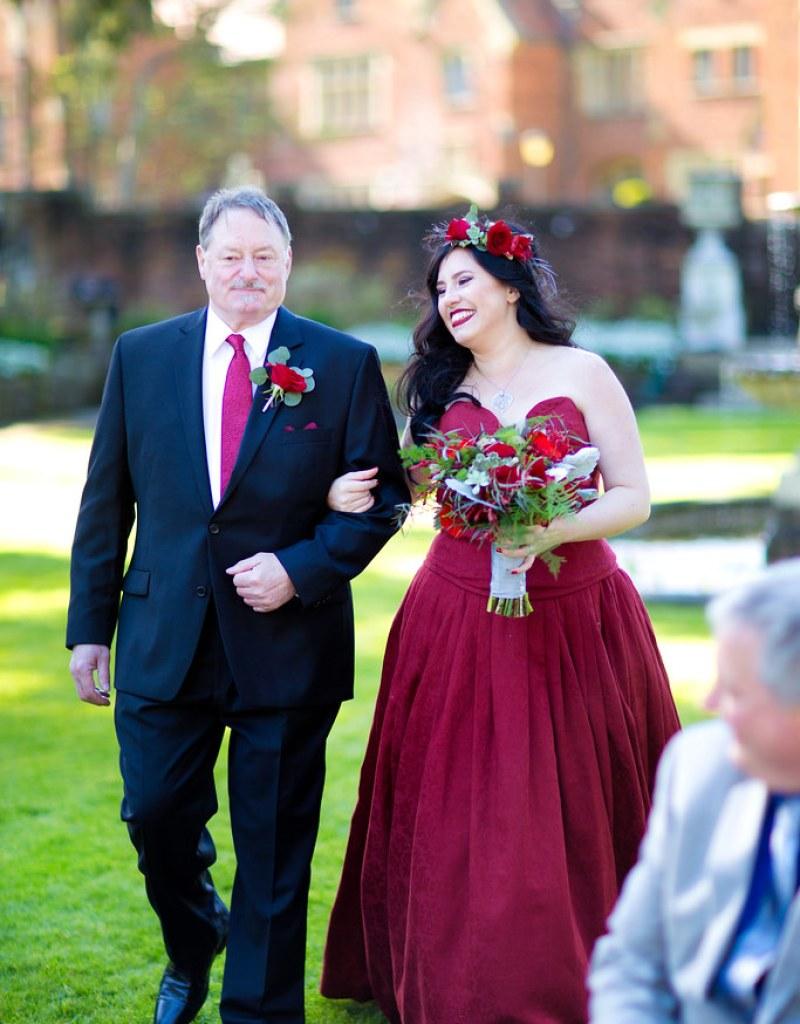 Unseelie dark fae wedding as seen on @offbeatbride