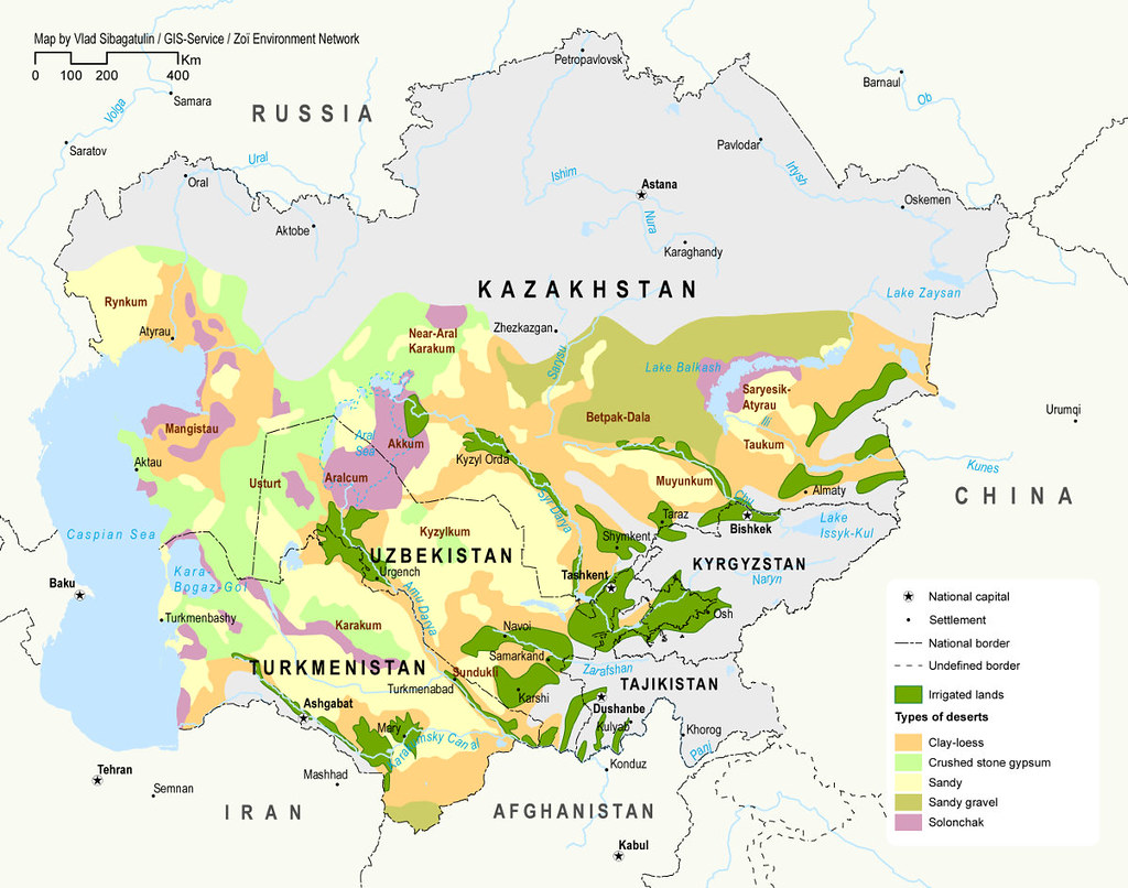 Deserts In Central Asia
