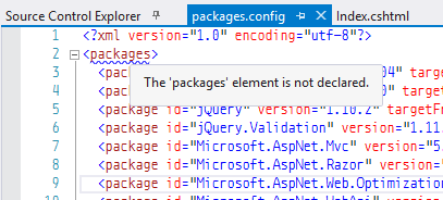 nuget packages.config
