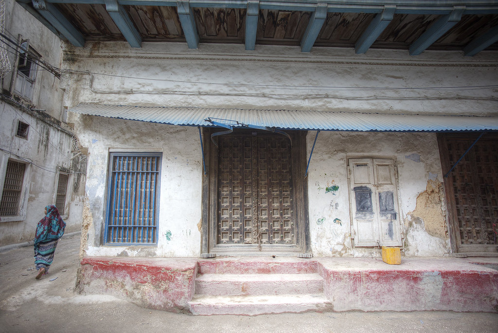 Doorway and alley in Zanzibar