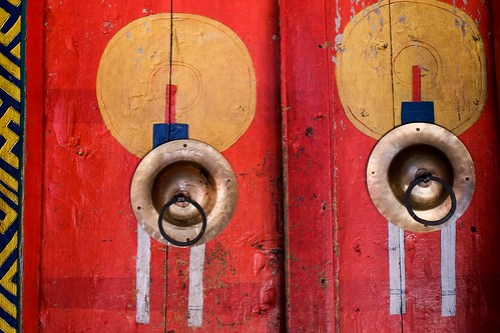 Doors. Pangboche Gompa