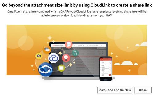 ในกรณีที่อยากแนบไฟล์ใหญ่ๆ จาก NAS ติดตั้ง CloudLink จะช่วยให้แชร์ไฟล์ได้ง่ายๆ ด้วยลิงก์
