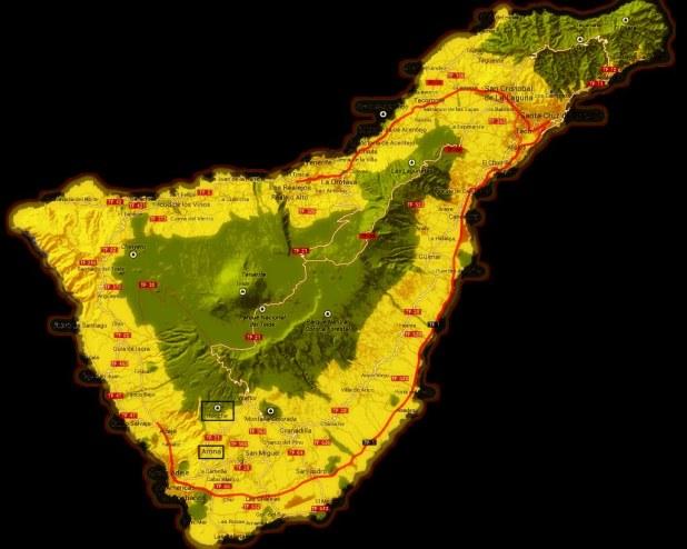 Mapa Arona Ifonche