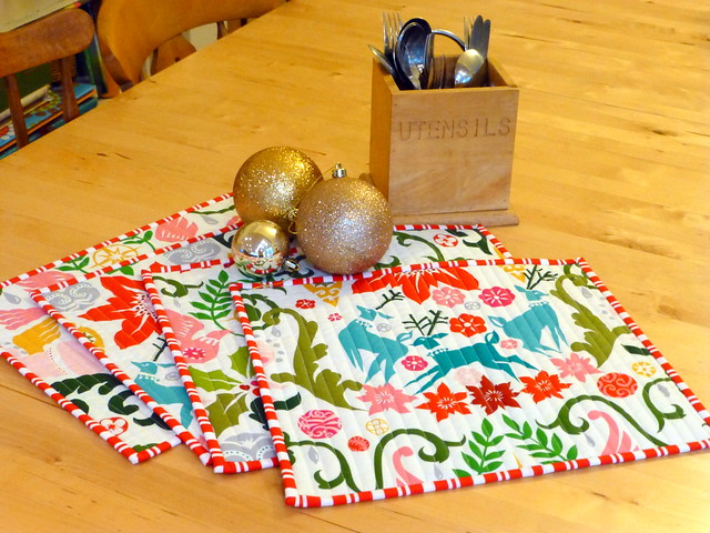 Christmas Placemats for Fabric Yard