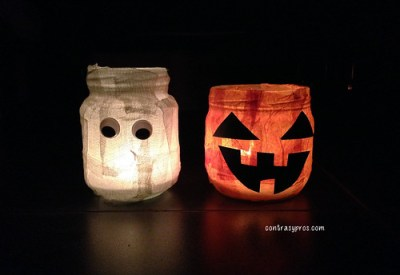Botes decorados DIY Halloween