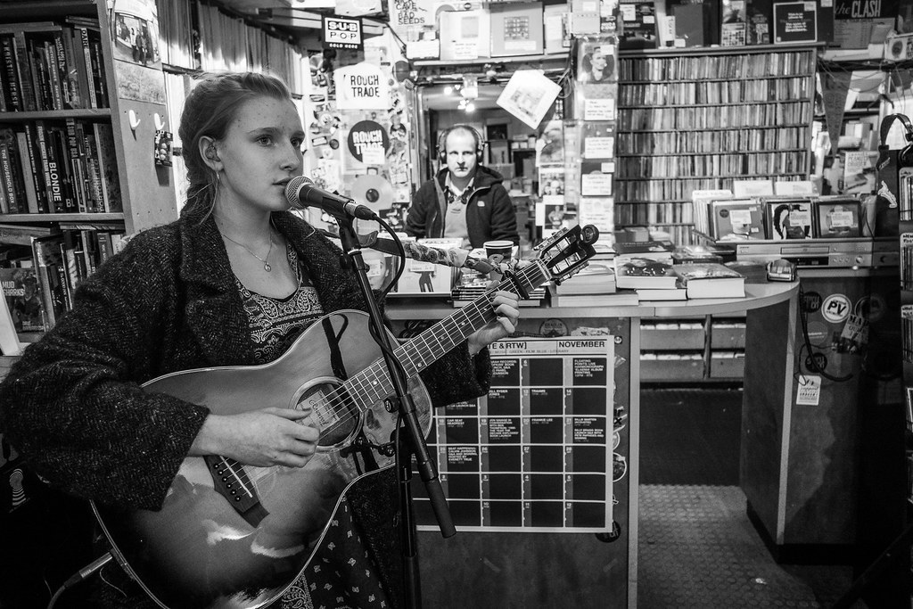 Billie Marten playing Rough Trade West