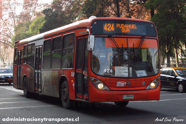 Transantiago - Express - Marcopolo Gran Viale / Volvo (CJRH88)