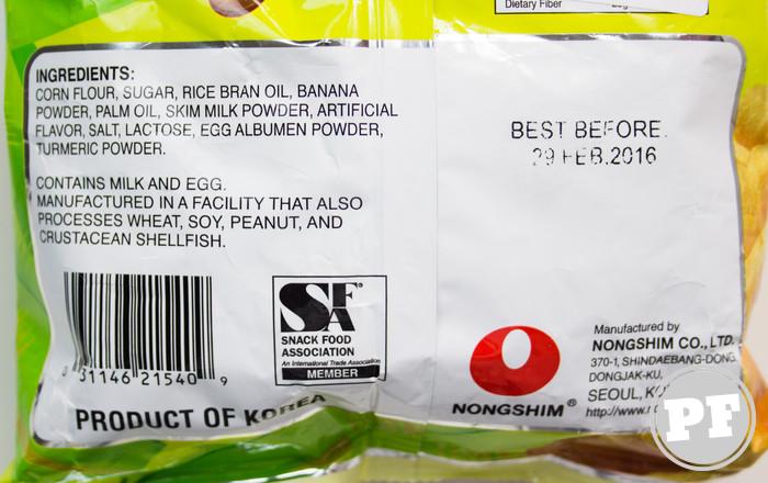 Chips de Banana Coreano