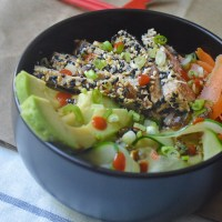 Sesame-Crusted Tuna Sushi Bowl