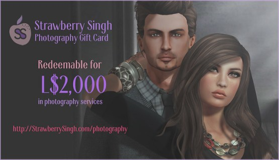 Strawberry Singh Photography - L$2000 Gift Card for Couples Portraits