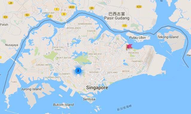新加坡制服地圖